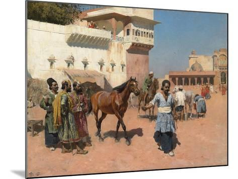 Persian Horse Dealer, Bombay, 1880s-Edwin Lord Weeks-Mounted Giclee Print