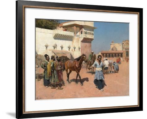 Persian Horse Dealer, Bombay, 1880s-Edwin Lord Weeks-Framed Art Print