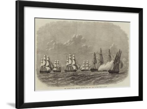 The British Flying Squadron Leaving False Bay, Cape of Good Hope-Edwin Weedon-Framed Art Print