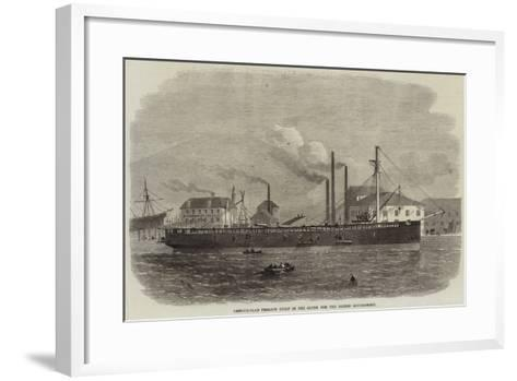 Armour-Clad Frigate Built in the Clyde for the Danish Government-Edwin Weedon-Framed Art Print