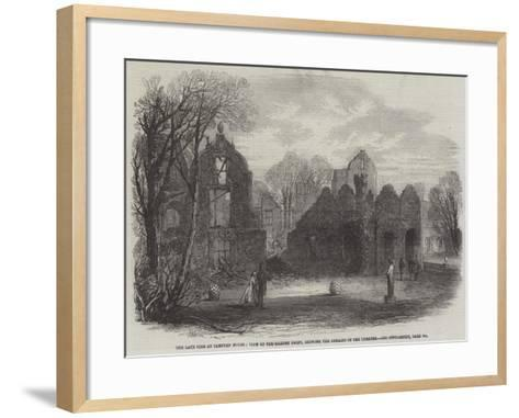 The Late Fire at Campden House, View of the Garden Front, Showing the Remains of the Theatre-Edmund Morison Wimperis-Framed Art Print