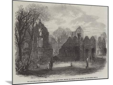 The Late Fire at Campden House, View of the Garden Front, Showing the Remains of the Theatre-Edmund Morison Wimperis-Mounted Giclee Print