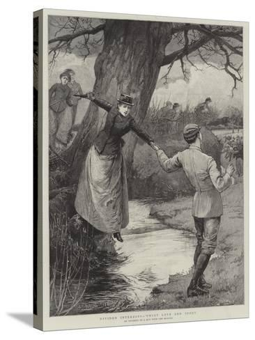 Divided Interests, 'Twixt Love and Sport-Edward Frederick Brewtnall-Stretched Canvas Print