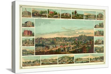 Bird's Eye View of Ellicotts Mills-Edward Sachse-Stretched Canvas Print