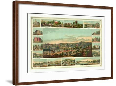 Bird's Eye View of Ellicotts Mills-Edward Sachse-Framed Art Print