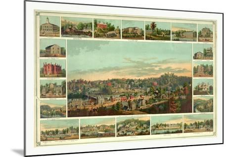 Bird's Eye View of Ellicotts Mills-Edward Sachse-Mounted Giclee Print