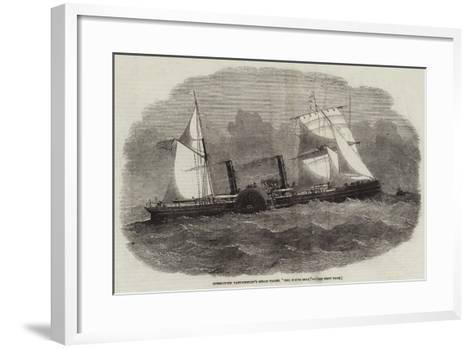 Commodore Vanderbildt's Steam-Yacht, The North Star-Edwin Weedon-Framed Art Print