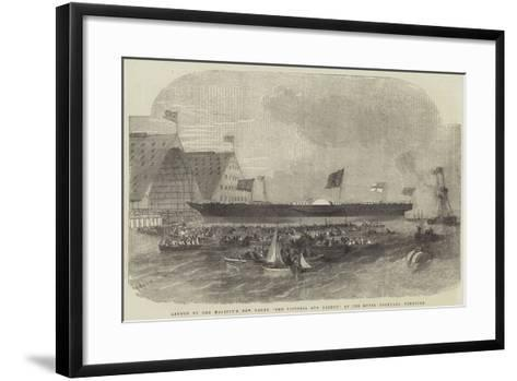 Launch of Her Majesty's New Yacht, The Victoria and Albert, at the Royal Dockyard, Pembroke-Edwin Weedon-Framed Art Print