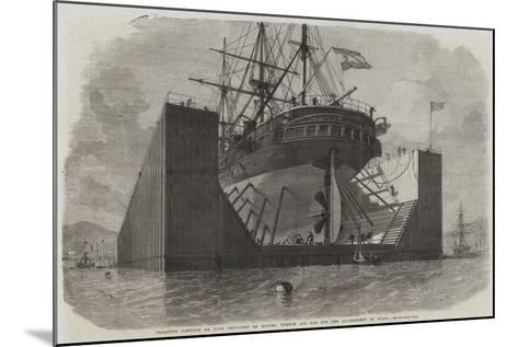 Floating Pontoon or Dock Prepared by Messers Rennie and Son for the Government of Spain-Edwin Weedon-Mounted Giclee Print