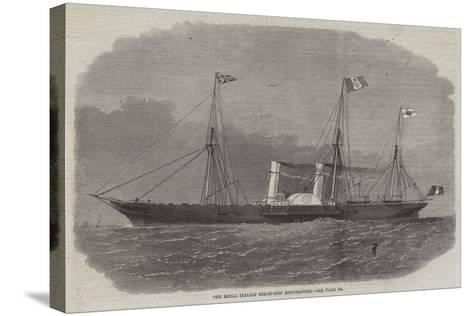 The Royal Italian Steam-Ship Esploratore-Edwin Weedon-Stretched Canvas Print