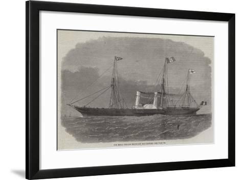 The Royal Italian Steam-Ship Esploratore-Edwin Weedon-Framed Art Print