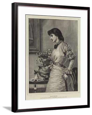 Doubts-Edward Frederick Brewtnall-Framed Art Print