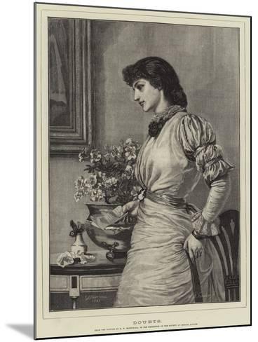 Doubts-Edward Frederick Brewtnall-Mounted Giclee Print