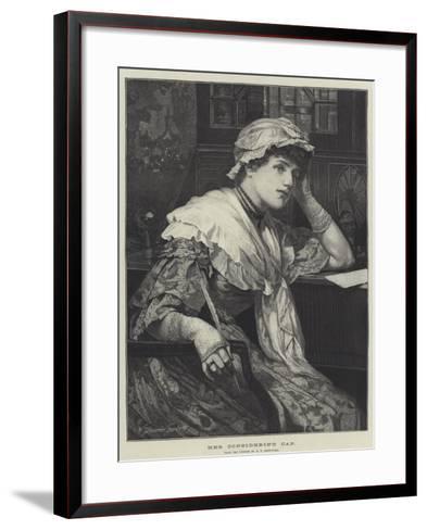 Her Considering Cap-Edward Frederick Brewtnall-Framed Art Print