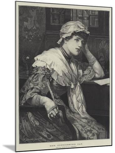 Her Considering Cap-Edward Frederick Brewtnall-Mounted Giclee Print