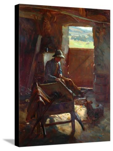 Cutting Stacks Rods, 1897-Edward George Hobley-Stretched Canvas Print
