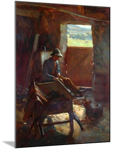 Cutting Stacks Rods, 1897-Edward George Hobley-Mounted Giclee Print