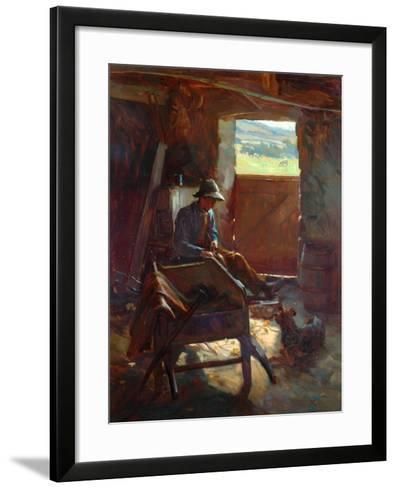 Cutting Stacks Rods, 1897-Edward George Hobley-Framed Art Print