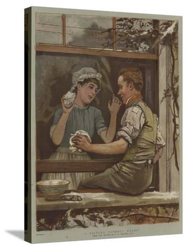 A Picture Without Words-Edward Killingworth Johnson-Stretched Canvas Print