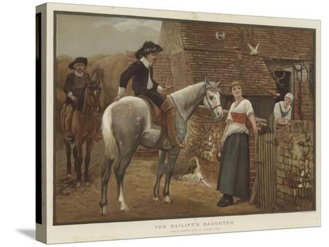 The Bailiff's Daughter-Edward Killingworth Johnson-Stretched Canvas Print