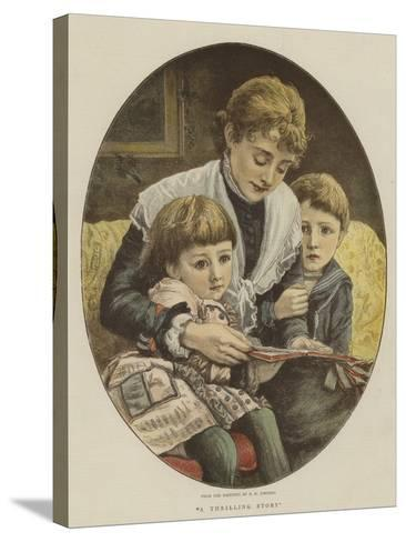 A Thrilling Story-Edward Killingworth Johnson-Stretched Canvas Print