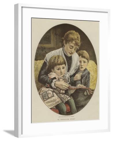 A Thrilling Story-Edward Killingworth Johnson-Framed Art Print