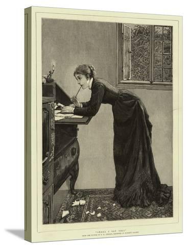 Shall I Say Yes?-Edward Killingworth Johnson-Stretched Canvas Print