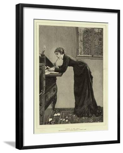 Shall I Say Yes?-Edward Killingworth Johnson-Framed Art Print