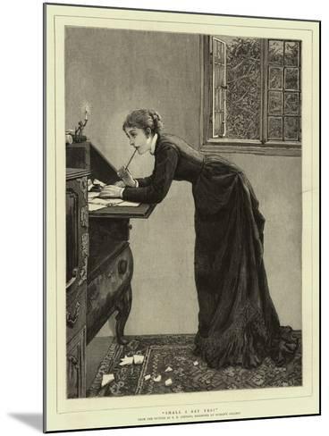 Shall I Say Yes?-Edward Killingworth Johnson-Mounted Giclee Print