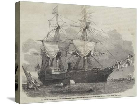 The Royal Mail Steam-Packet Company's Ship Amazon-Edwin Weedon-Stretched Canvas Print
