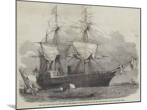 The Royal Mail Steam-Packet Company's Ship Amazon-Edwin Weedon-Mounted Giclee Print