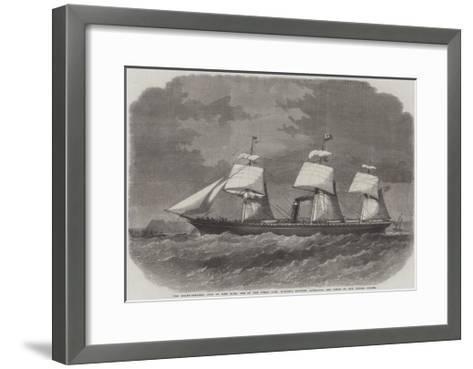 The Screw-Steamer City of New York-Edwin Weedon-Framed Art Print