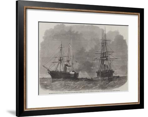The Seizure by Captain Wilks-Edwin Weedon-Framed Art Print