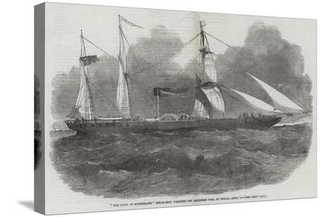 The Duke of Sutherland Steam-Ship, Wrecked Off Aberdeen Pier, in Friday, 1 April-Edwin Weedon-Stretched Canvas Print
