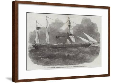 The Duke of Sutherland Steam-Ship, Wrecked Off Aberdeen Pier, in Friday, 1 April-Edwin Weedon-Framed Art Print