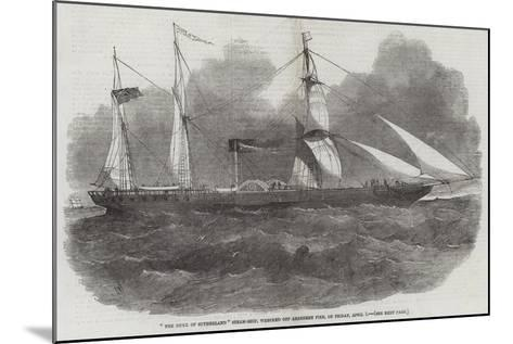 The Duke of Sutherland Steam-Ship, Wrecked Off Aberdeen Pier, in Friday, 1 April-Edwin Weedon-Mounted Giclee Print