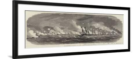 The Bombardment of Kagosima, Japan-Edwin Weedon-Framed Art Print