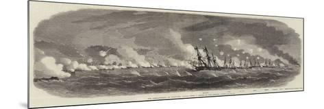 The Bombardment of Kagosima, Japan-Edwin Weedon-Mounted Giclee Print