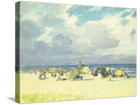 Purple Beach Scene-Edward Henry Potthast-Stretched Canvas Print