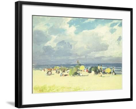 Purple Beach Scene-Edward Henry Potthast-Framed Art Print