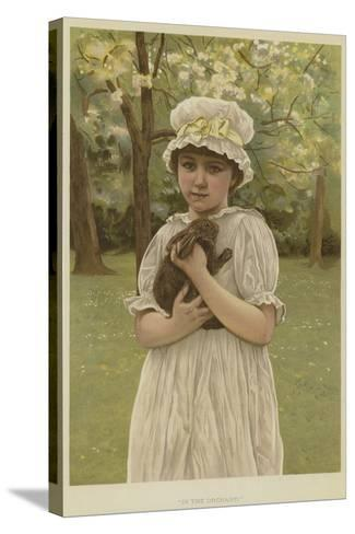 In the Orchard-Edward Killingworth Johnson-Stretched Canvas Print