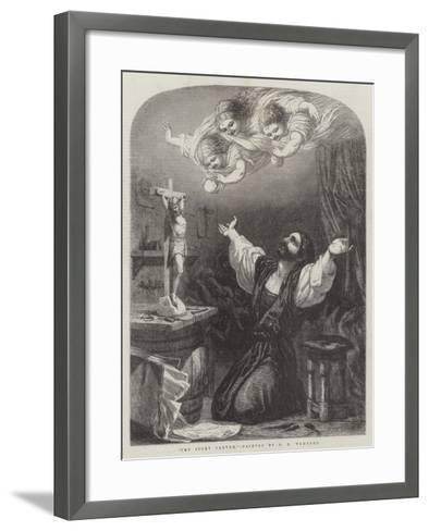 The Ivory Carver-Edward Henry Wehnert-Framed Art Print