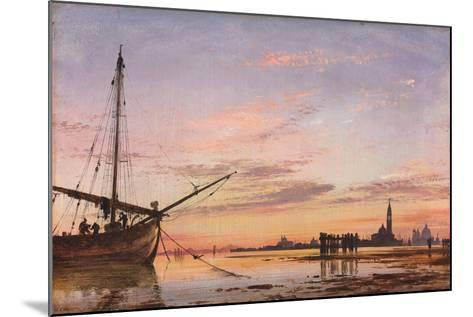 View across the Lagoon, Venice, Sunset, 1850-Edward William Cooke-Mounted Giclee Print