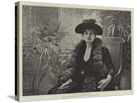 In My Conservatory-Edouard Debat-Ponsan-Stretched Canvas Print