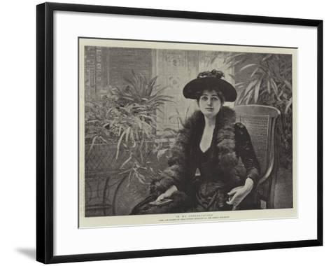In My Conservatory-Edouard Debat-Ponsan-Framed Art Print
