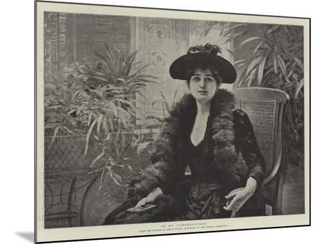 In My Conservatory-Edouard Debat-Ponsan-Mounted Giclee Print