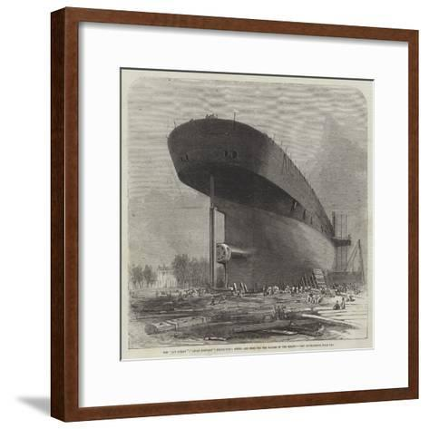 The Leviathan (Great Eastern) Steam-Ship, Stern, and Boss for the Blades of the Screw-Edwin Weedon-Framed Art Print