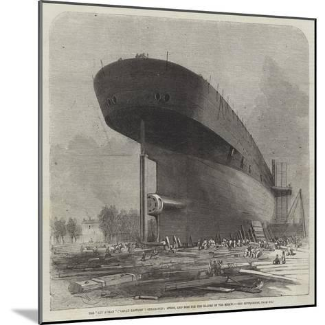 The Leviathan (Great Eastern) Steam-Ship, Stern, and Boss for the Blades of the Screw-Edwin Weedon-Mounted Giclee Print
