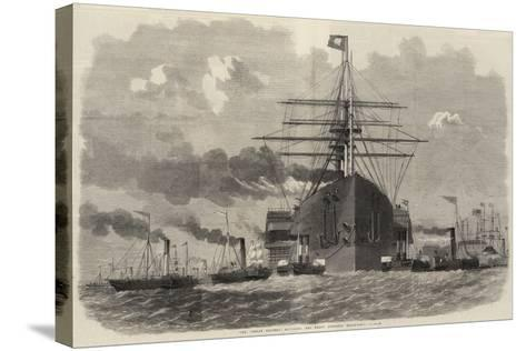 The Great Eastern Rounding the Point Opposite Blackwall-Edwin Weedon-Stretched Canvas Print