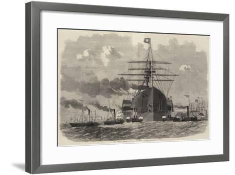 The Great Eastern Rounding the Point Opposite Blackwall-Edwin Weedon-Framed Art Print